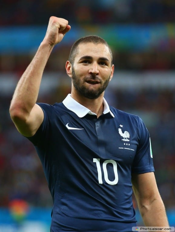 karim benzema french international soccer player According to fifa karim benzema is now the best player in the world cup   figures published today, the best player in brazil is now france's karim benzema.