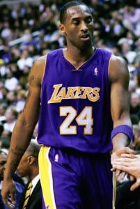 Kobe Bryant as a member of the Los Angeles Lakers. Photo courtesy of Wikipedia