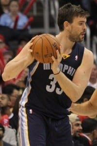 Marc Gasol as a member of the Memphis Grizzlies. Photo courtesy of Wikipedia