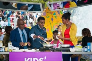 Chef Marcus with Al Roker and First Lady Michelle Obama