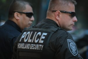CHICAGO, IL - MAY 16: Homeland Security Police