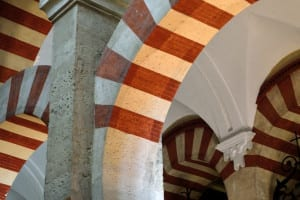 Part of a horse-shoe arch in the Mosque-Cathedral (Photo Credit: Anna Groeling).