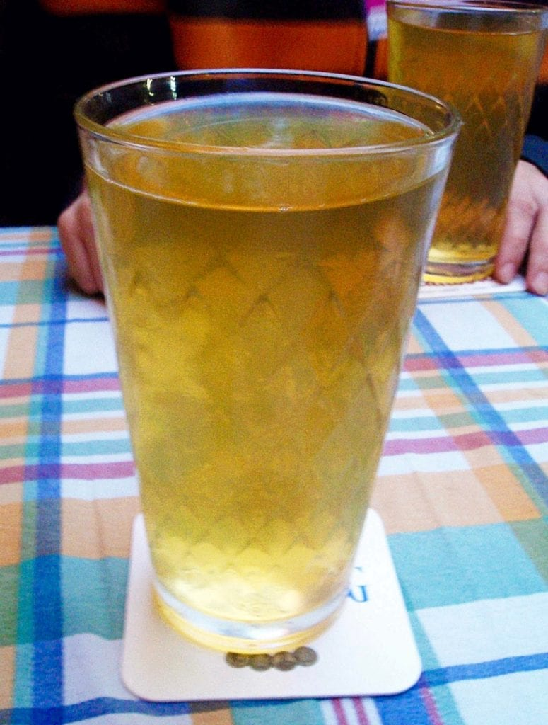 In the city of Frankfurt the alcoholic drink of choice is Apfelwein, or otherwise known as apple wine. Photo taken by Josie Lucero.