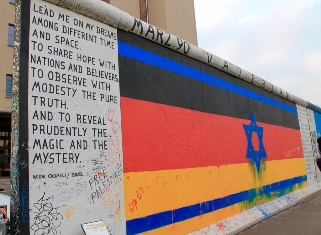 The first mural of East Side Gallery, the longest-open air gallery comprised of the longest still standing part of the Berlin Wall. Photo taken by Josie Lucero.