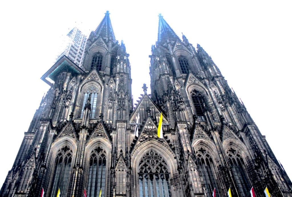 With it's two spires dominating the city's skyline at an impressive 515 ft., the Cologne Cathedral is German's most visited attraction. Photo taken by Josie Lucero.