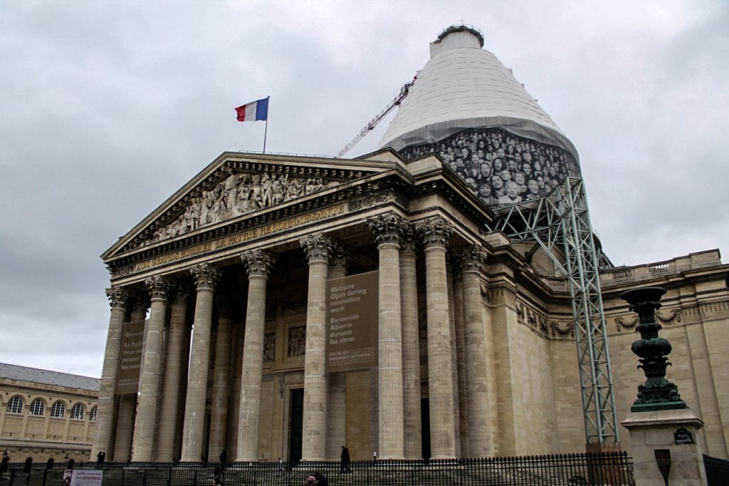 The Pantheon's crypt is the final resting place to many famous French citizens that made significant contributions to history. Photo taken by Josie Lucero.