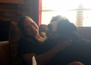 My mother and her border collie, George