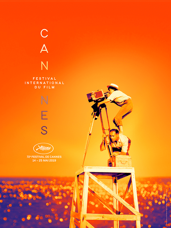 Cannes Film Festival 2019 official poster, Agnès Varda -- shown here in 1954, making her first film at age 26